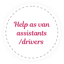 Help as van assistants/drivers